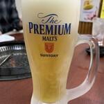 焼肉市場 明月館 - 生ビール