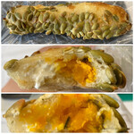 pain stock - かぼちゃとクリームチーズ 250円税別だったと思います。外の豆みたいなのは【かぼちゃの種】みたいです。