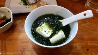 宝山 いわし料理 大松 - 青のり豆腐