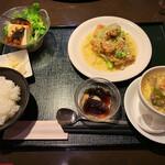 彩華 - 若鶏の唐揚げ 花良治の甘酢ソースかけセット