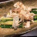 旬の鮮魚と魂の煮込み ぶん福茶がま - きゅうりのタタキ