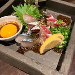 旬の鮮魚と魂の煮込み ぶん福茶がま - ゴマサバ黒