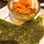 旬の鮮魚と魂の煮込み ぶん福茶がま - ウニとイクラの醤油漬け