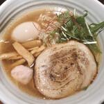 125497716 - 銀笹ラーメン塩(880円), 味付け玉子(120円)