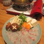 酒処 はな田 - 料理写真:活魚のしゃぶしゃぶ 2600円(真鯛)