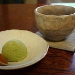 寿司けん - ランチはアイスか飲み物を選べます