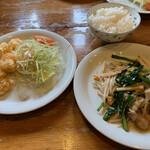 龍潭 - 料理写真:日替り定食。豪華です。