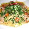 パラッツォ - 料理写真:菜の花と小エビのパスタ
