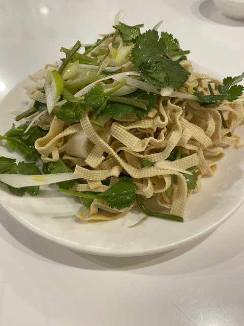 味坊 - 押し豆腐の冷菜 ¥800