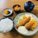 いち一 - 料理写真:魚フライ定食@700(750?)