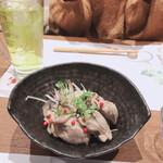 写楽 箸処 - 牡蠣のオイル漬け