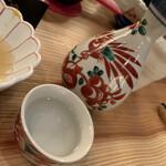 京のおばんざい えんや - 熱燗。 冷酒は取り忘れ…。