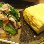旬彩 ちば食堂 - 玉子焼き&小松菜と焼きキノコのおろし和え