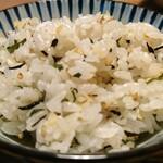 旬彩 ちば食堂 - 鮭と大葉の混ぜご飯