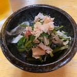 お好み焼き もり - お好み焼き もり@岡山 パクチーのおひたし(380円)