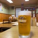 お好み焼き もり - お好み焼き もり@岡山 生ビール 一番搾り(600円)