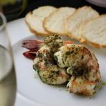 鉄板焼 ろじ - 大海老のガーリックバターソテーです!プリプリの海老を贅沢にお召し上がり下さい!
