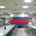 慶応義塾大学三田キャンパス 山食 - 山食内、まだ時間が早く誰も居ない・・
