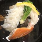 125546061 - 舞鶴直送のズワイガニ、冬菇と海老芋添え
