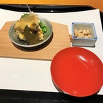 125547073 - 鮑と菜の花、節分の豆、秋田の日本酒