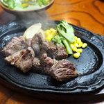ステーキ那須 - サイコロステーキ