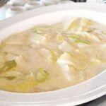 アルページュ - 白身魚(パンガシウス)の老酒蒸し焼き、 チンゲン菜・白菜のクリームソース煮