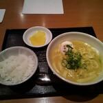 カレーうどん 千吉 - 料理写真:千吉カレーうどん温泉玉子トッピング