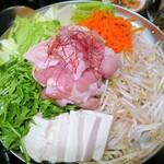 米と魚 酒造 米家ル - 豚チゲ鍋