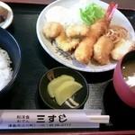 三すじ - 730円のランチ  イカが新鮮でプリプリでした