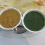 ヒマラヤ食堂 - 野菜とほうれん草
