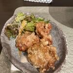 煮干し拉麺 アンチョビー - 唐揚げS(3個)