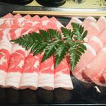 華蓮 - 黒豚肩ロース肉&黒豚下ロース肉&黒豚バラ肉