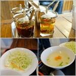 タイレストラン ムートーン - サラダ、スープ、調味料