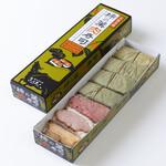 きゅうろく鉄板焼屋 - 新幹線キヨスクにて販売中の柿の葉肉寿司。