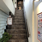 昭和喫茶 ロマンス - 2階へのアプローチ
