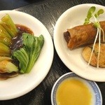 翠亨邨茶寮 - 2012年4月青菜・春巻き・大根餅