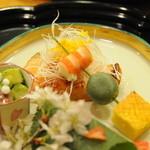 京大和屋 - 串打ち、サーモン菜種焼き