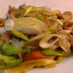 12559899 - 豚肉と長葱炒めUp