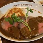 OLD NEW DINER - ・リブロースの自家製ローストビーフ&マッシュポテト。
