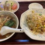 鳳華飯店 - チャーハンセット(840円)