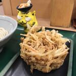 さぬきうどん職人 めりけんや - かき揚げ130円(税込) ※丸亀製麺なみにデカイ