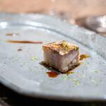 RAMA - RAMA自家製醤油でいただく、鹿児島の鰤の焼き押し寿司