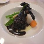 サロン ド ジヴェルニー - 蔵王香鶏モモ肉の赤ワイン煮込み(+\500)