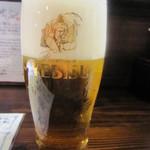 乙麺造場 - エビス生ビール(500円)