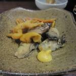 乙麺造場 - 貝のスモーク(300円)
