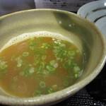 乙麺造場 - スープ割りは熱々