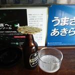 豊嶋屋酒店 - 白ホッピーセットとカワハギ