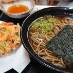 川音亭 - 川海老のかき揚げ蕎麦