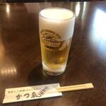 かつ泉 - ドリンク写真:生ビール