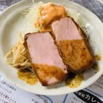 レストランばーく - 料理写真:ハムカツ ハーフ単品